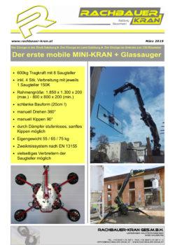 Rachbauer Kran Glassauer und Mini-Kran
